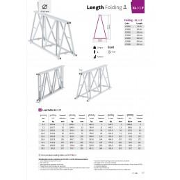 XL101F-L074 Gerade 4-Punkt Falt-Traverse Länge 74cm
