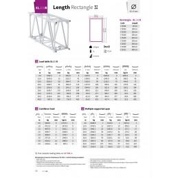 XL101R-L300 Gerade 4-Punkt Rechteckstraverse Länge 300cm