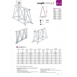 XL101F-L120 Gerade 4-Punkt Falt-Traverse Länge 120cm
