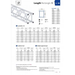 L35R-L120 Gerade 4-Punkt Rechteckstraverse Länge 120cm