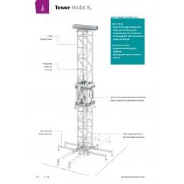 L53TOW-L200 Gerade 4-Punkt XL Towertraverse Länge 200cm