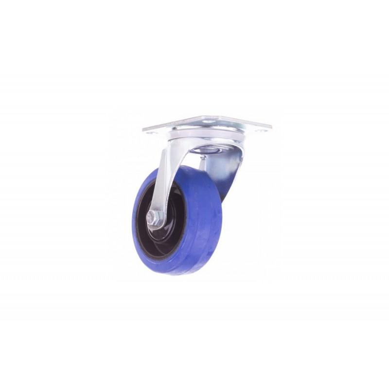 Roulette pivotante 100 mm bleu