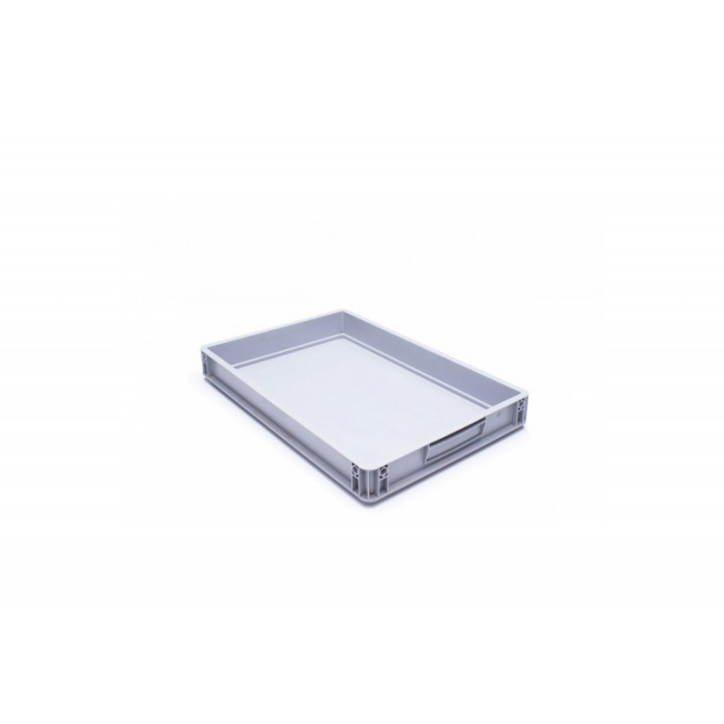 Eurobehälter, grau, 60x 40x 7.5cm