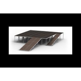 Rampenunterstützung für 3 Decks in Reihe