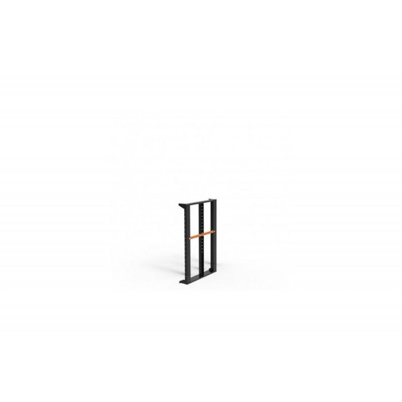 Slim-Line Seitenpanel mit Mittelsteg, H 110cm schwarz mit Griffen