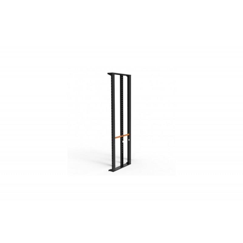 Slim-Line Seitenpanel mit Mittelsteg, H 203cm schwarz mit Griffen