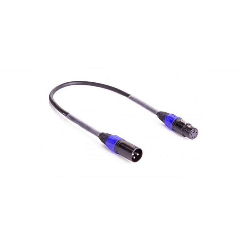 DMX Adapterkabel 3M-5F XLR 50cm schwarz