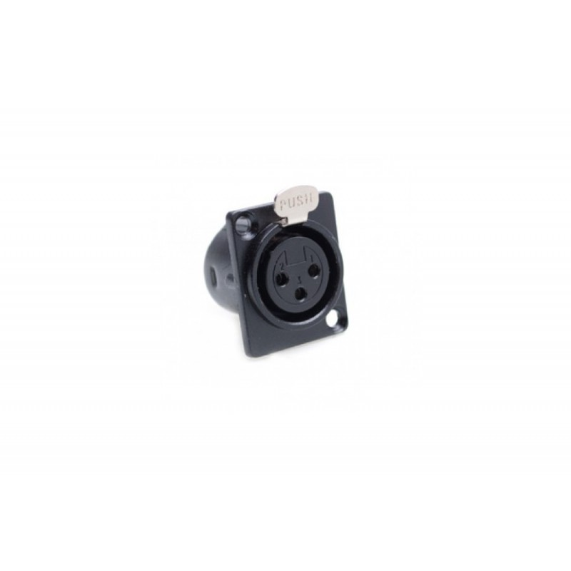 Connecteur XLR (châssis) 3 broches femelle 5 pièces