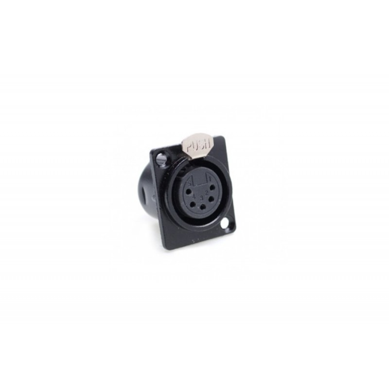 Connecteur XLR (châssis) 5 broches femelle 5 pièces